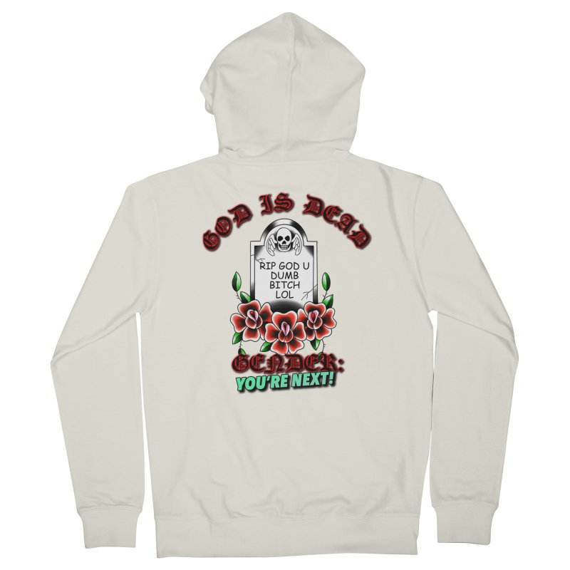 Gender You're Next! (Color) Women's French Terry Zip-Up Hoody by lil merch
