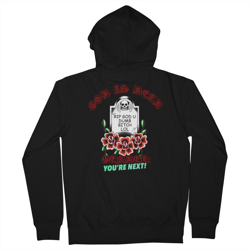 Gender You're Next! (Color) Men's French Terry Zip-Up Hoody by lil merch