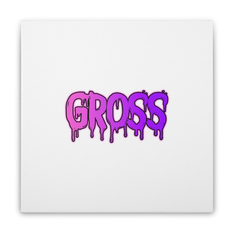 GROSS #2 Home Stretched Canvas by lil merch