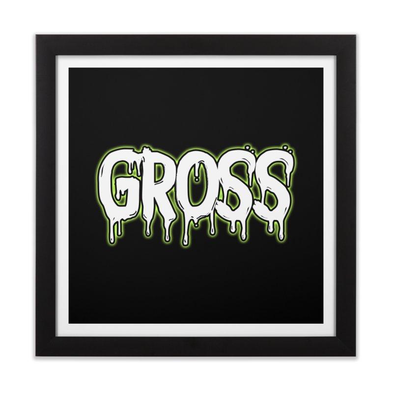 GROSS #3 Home Framed Fine Art Print by lil merch