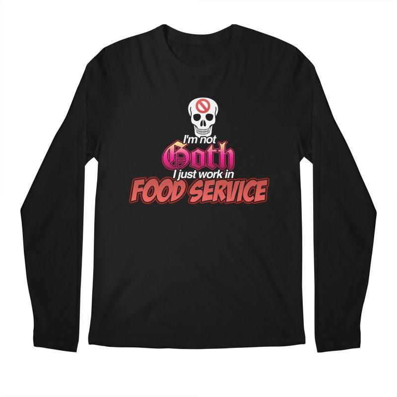 NOT GOTH (SORRY) Men's Longsleeve T-Shirt by lil merch