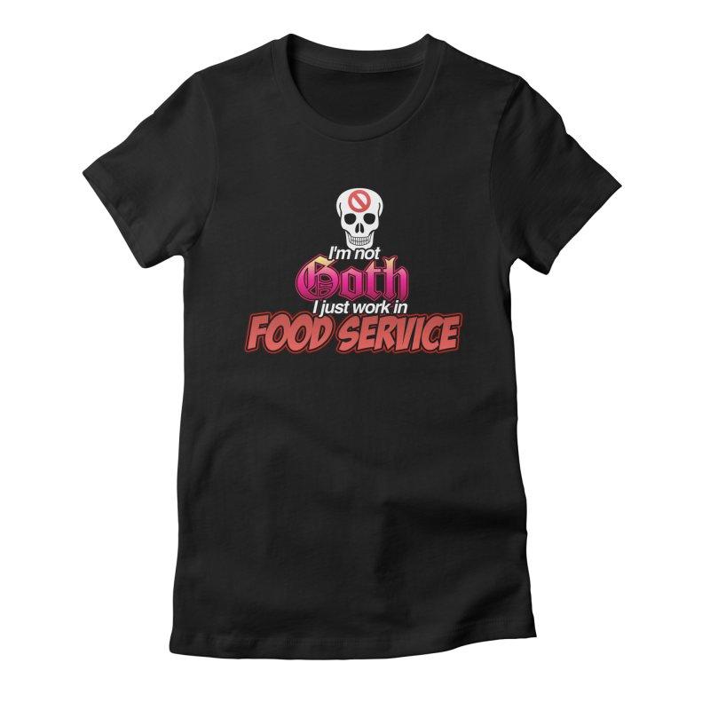 NOT GOTH (SORRY) Women's T-Shirt by lil merch