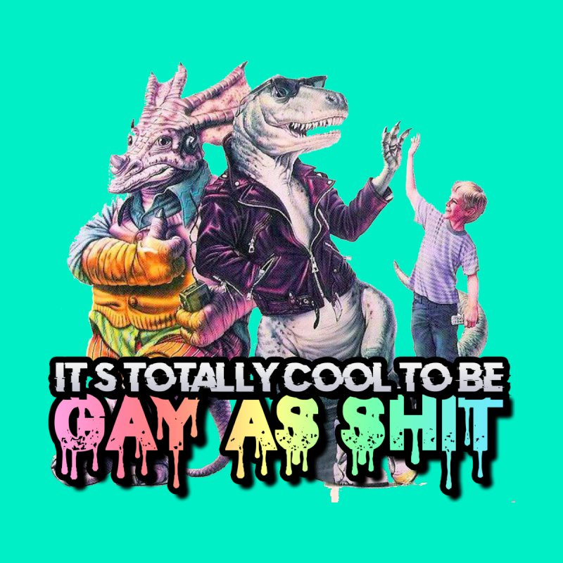 GAY-OK Home Mounted Aluminum Print by lil merch