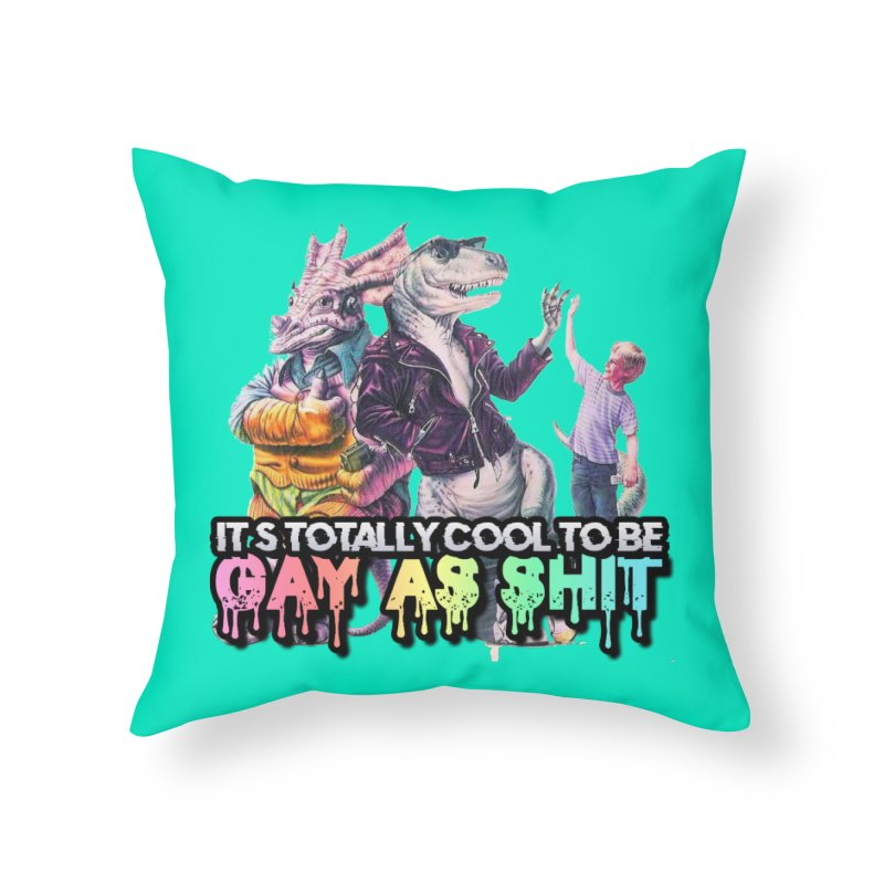 GAY-OK Home Throw Pillow by lil merch