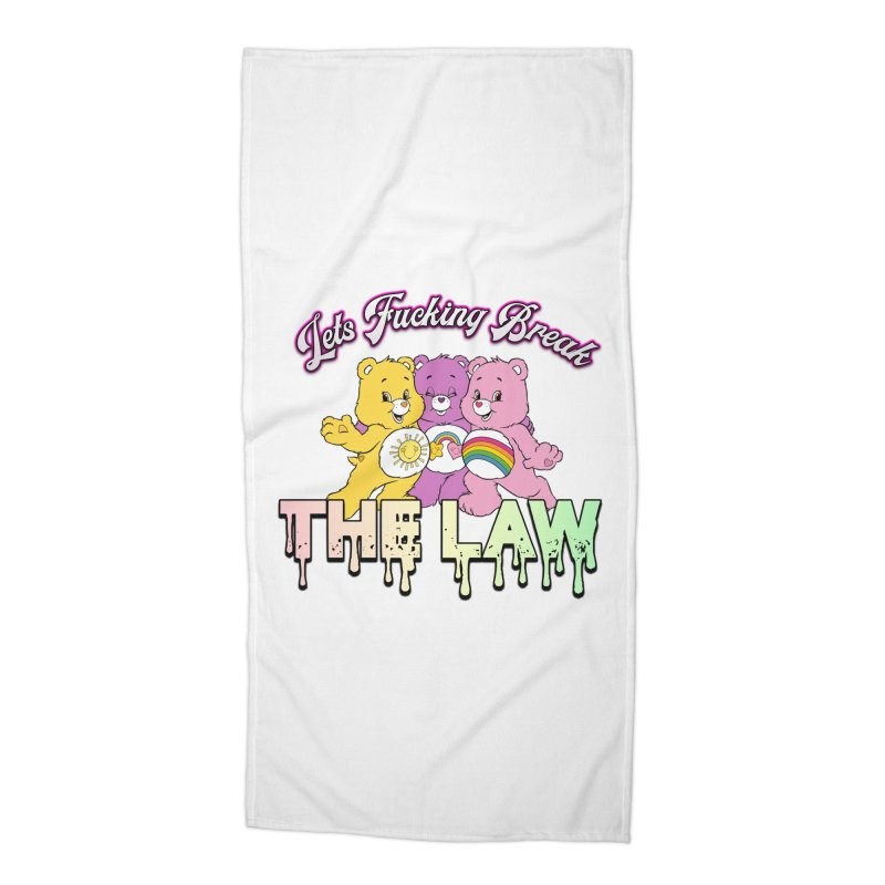 BREAK THE LAW Accessories Beach Towel by lil merch
