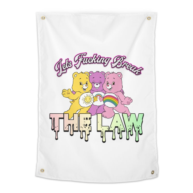 BREAK THE LAW Home Tapestry by lil merch