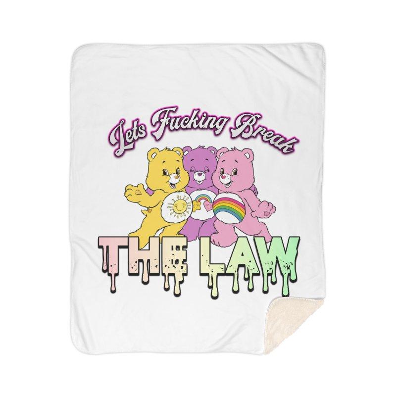 BREAK THE LAW Home Sherpa Blanket Blanket by lil merch