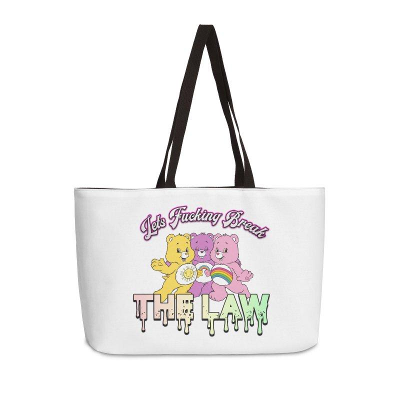 BREAK THE LAW Accessories Weekender Bag Bag by lil merch