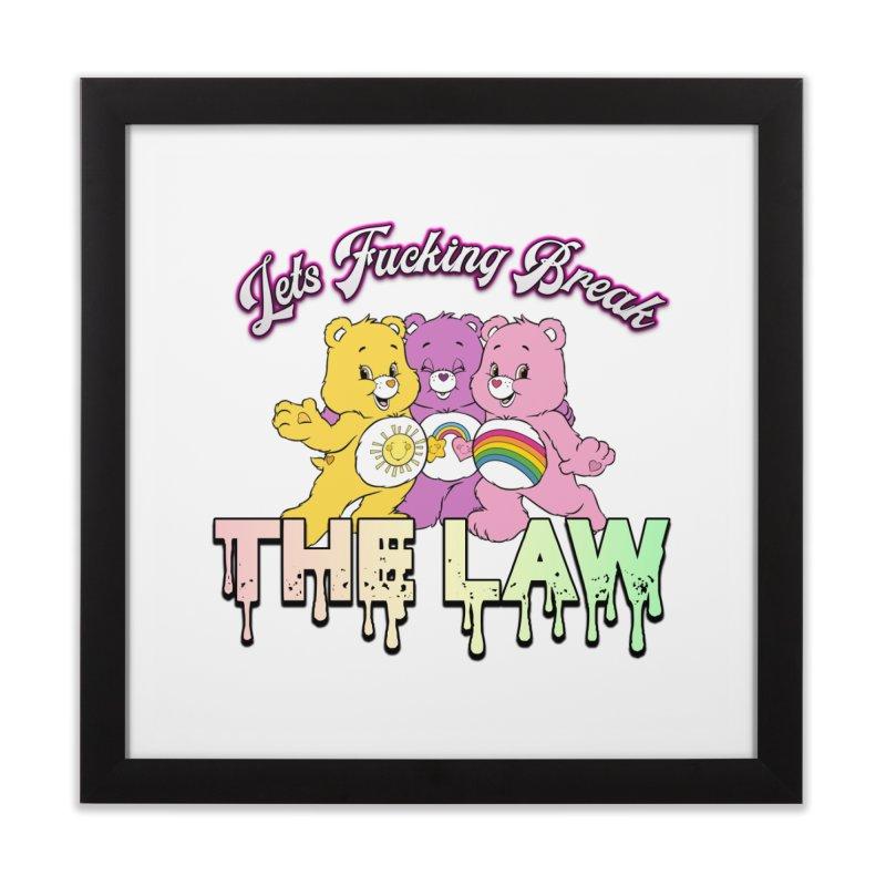 BREAK THE LAW Home Framed Fine Art Print by lil merch