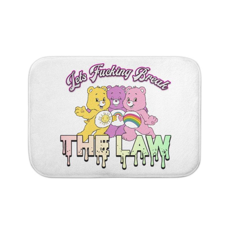 BREAK THE LAW Home Bath Mat by lil merch