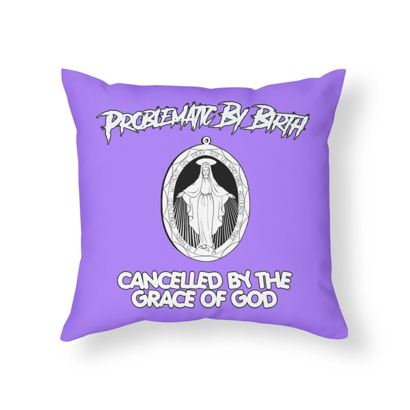 CANCELLED #1 Home Throw Pillow by lil merch