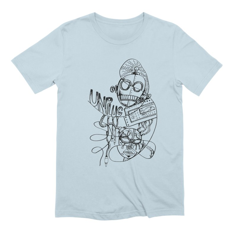 Unplugged Men's Extra Soft T-Shirt by Cancer Owl Store