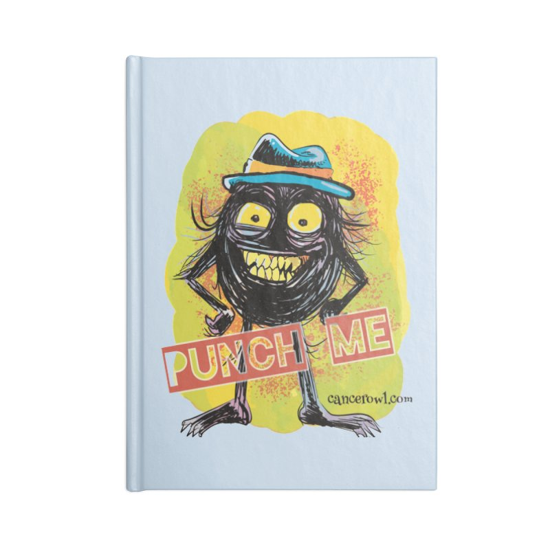 Cancer (punch me) blue background Accessories Notebook by cancerowl's Artist Shop