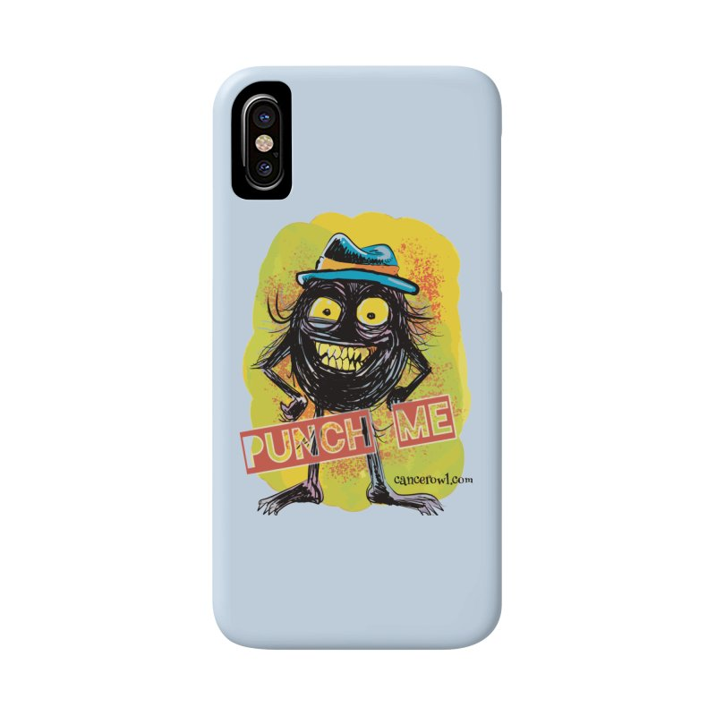 Cancer (punch me) blue background Accessories Phone Case by cancerowl's Artist Shop