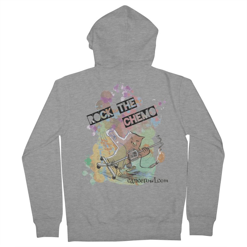 Rock the Chemo Men's French Terry Zip-Up Hoody by cancerowl's Artist Shop