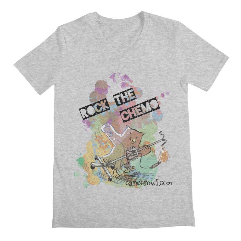 Rock the Chemo Men's V-Neck by cancerowl's Artist Shop