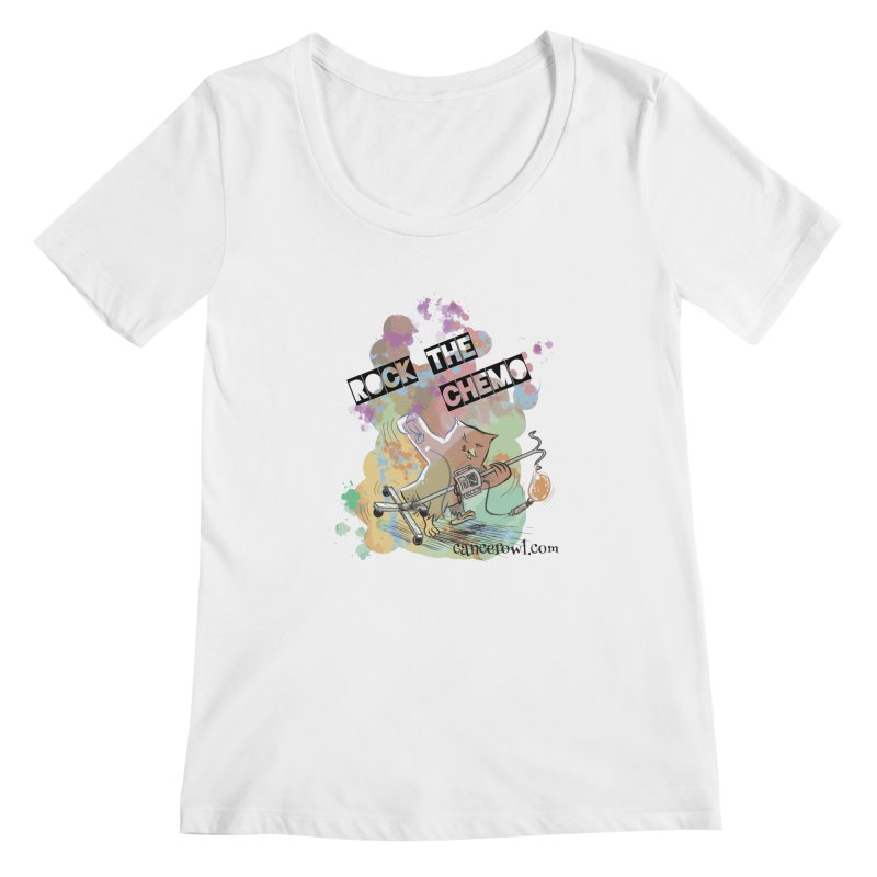Rock the Chemo Women's Scoopneck by cancerowl's Artist Shop