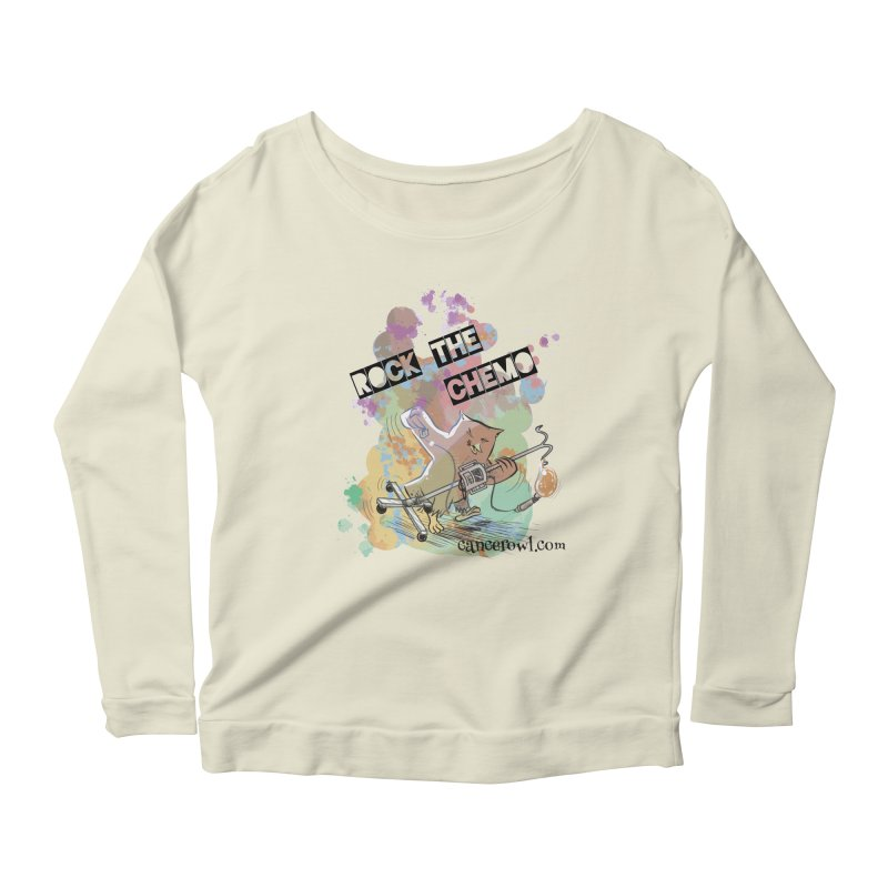 Rock the Chemo Women's Longsleeve Scoopneck  by cancerowl's Artist Shop