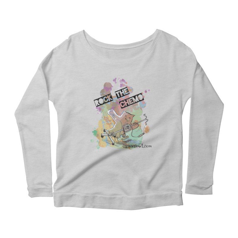 Rock the Chemo Women's Scoop Neck Longsleeve T-Shirt by Cancer Owl Store