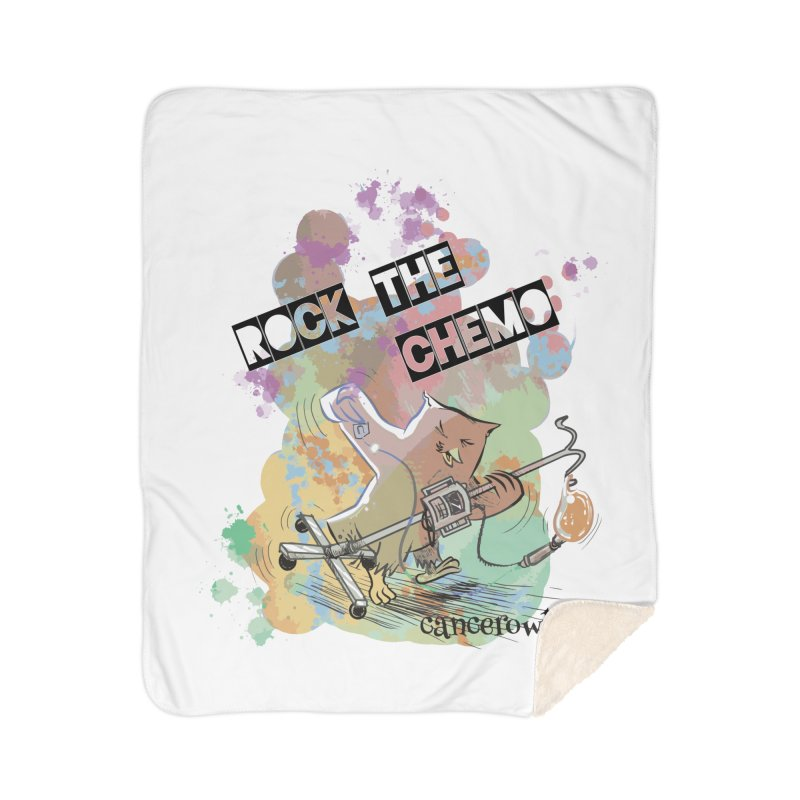 Rock the Chemo Home Sherpa Blanket Blanket by Cancer Owl Store