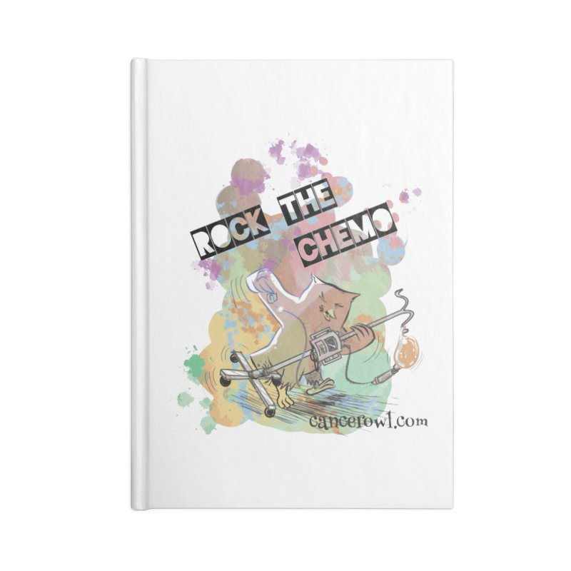 Rock the Chemo Accessories Lined Journal Notebook by Cancer Owl Store