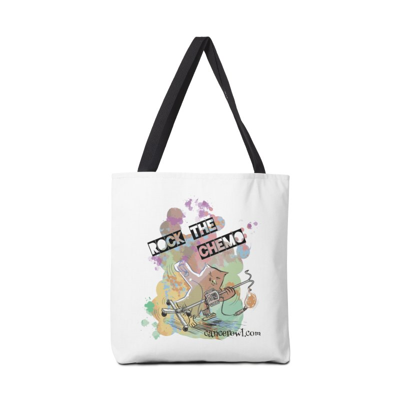 Rock the Chemo Accessories Tote Bag Bag by Cancer Owl Store