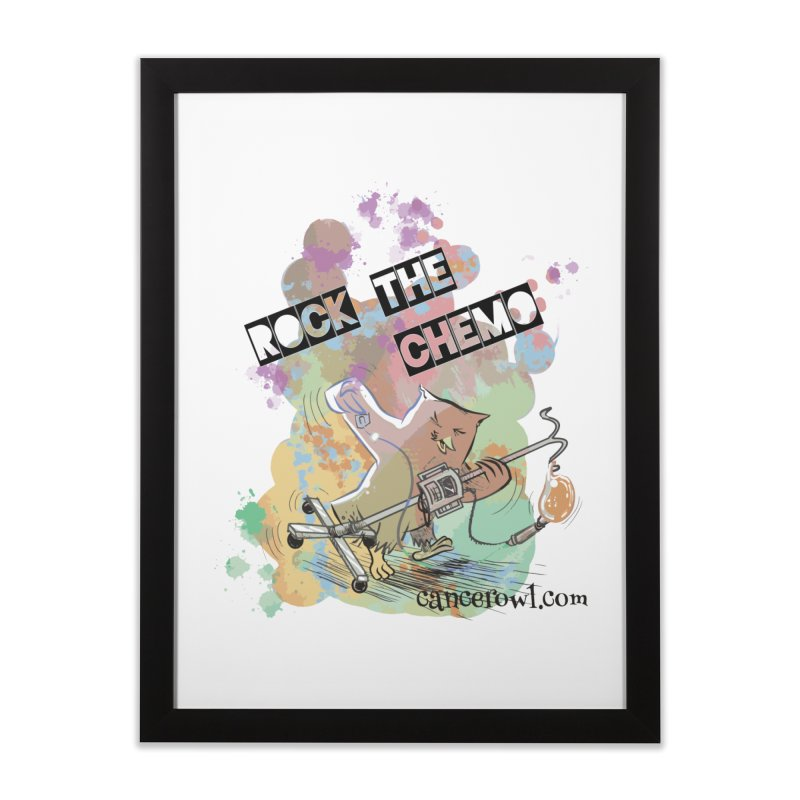 Rock the Chemo Home Framed Fine Art Print by Cancer Owl Store