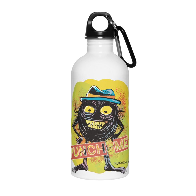 Punch Me!! Accessories Water Bottle by Cancer Owl Store