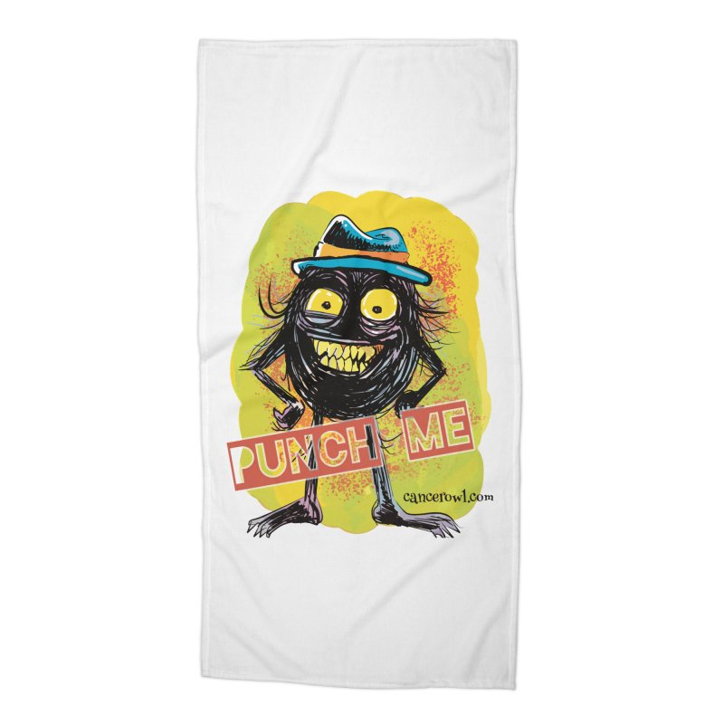 Punch Me!! Accessories Beach Towel by cancerowl's Artist Shop