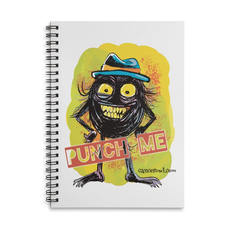 Punch Me!! Accessories Lined Spiral Notebook by Cancer Owl Store