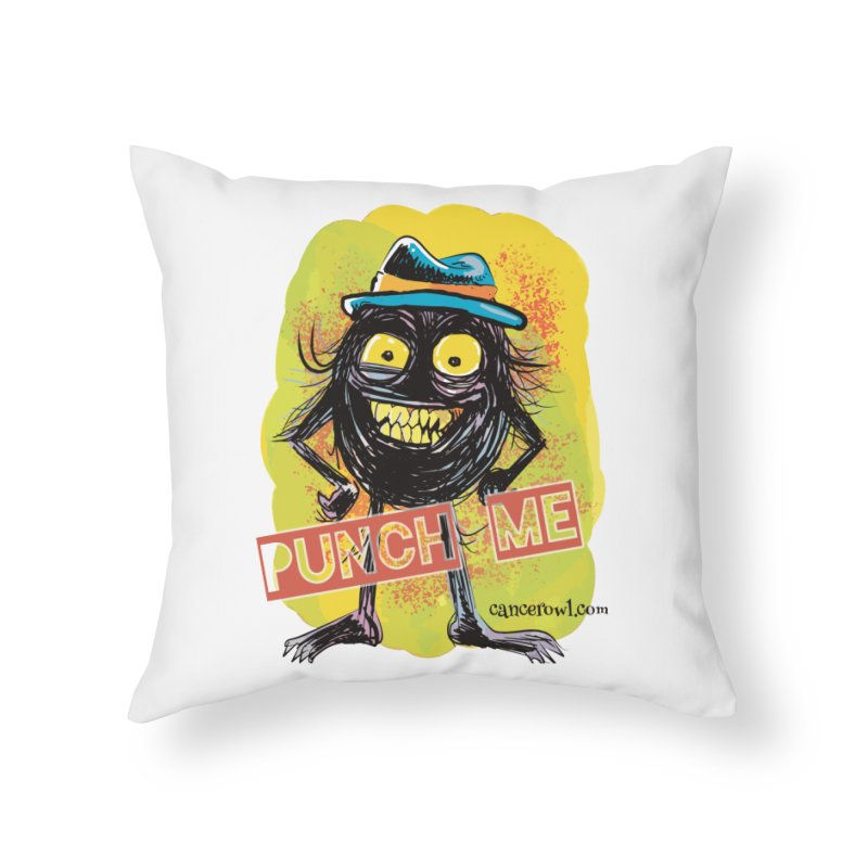 Punch Me!! Home Throw Pillow by cancerowl's Artist Shop