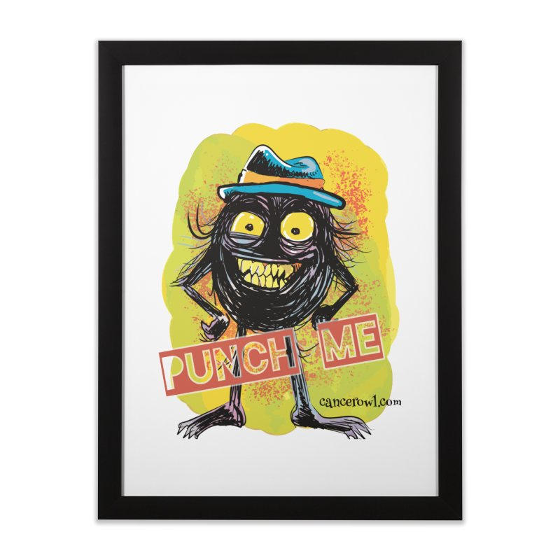 Punch Me!! Home Framed Fine Art Print by Cancer Owl Store
