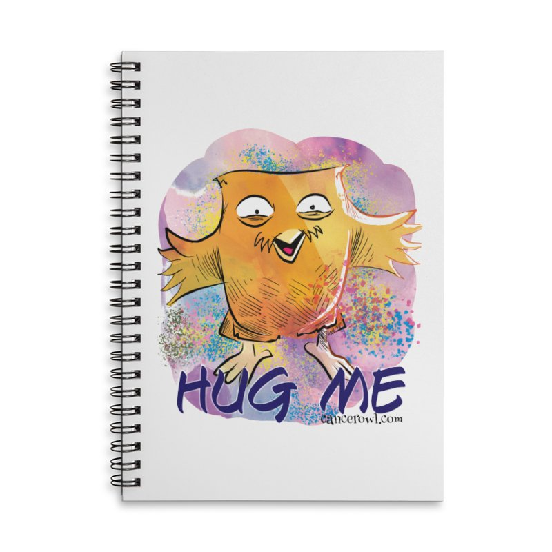 Hug Me!! Accessories Lined Spiral Notebook by Cancer Owl Store