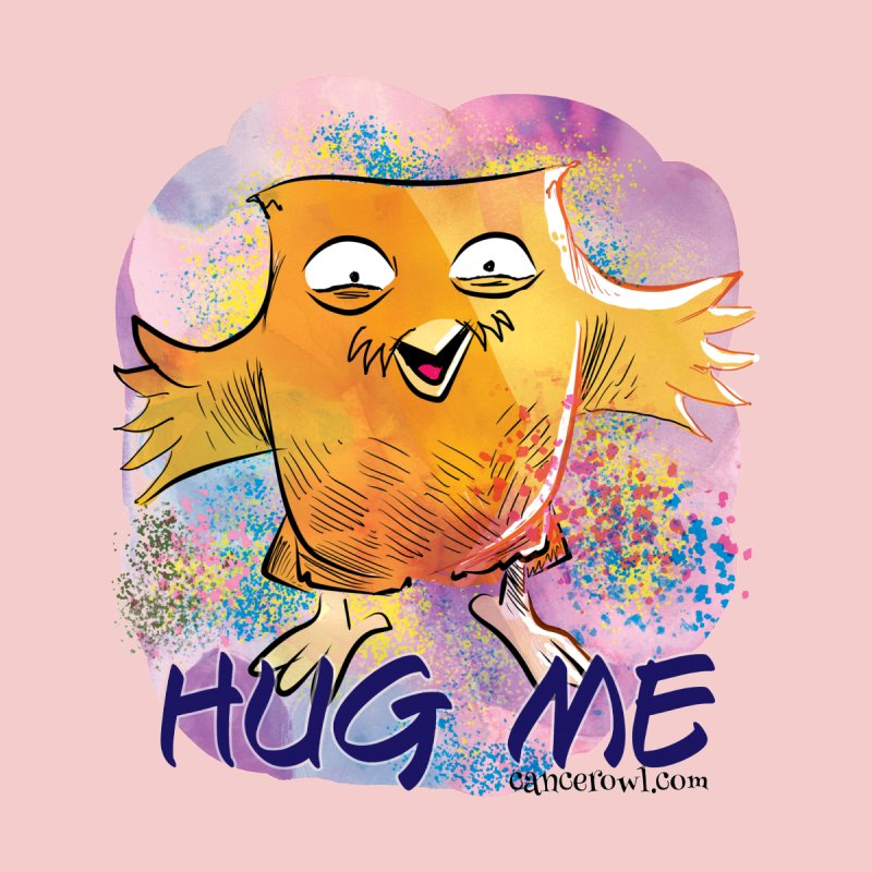Hug Me!! Pink background by Cancer Owl Store