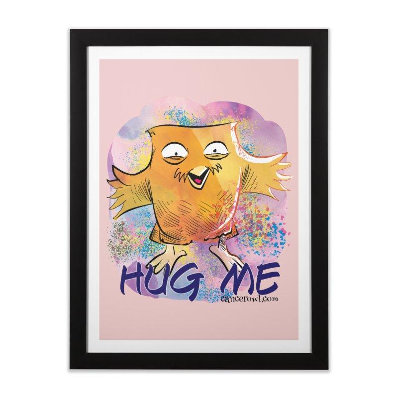 Hug Me!! Pink background Home Framed Fine Art Print by cancerowl's Artist Shop