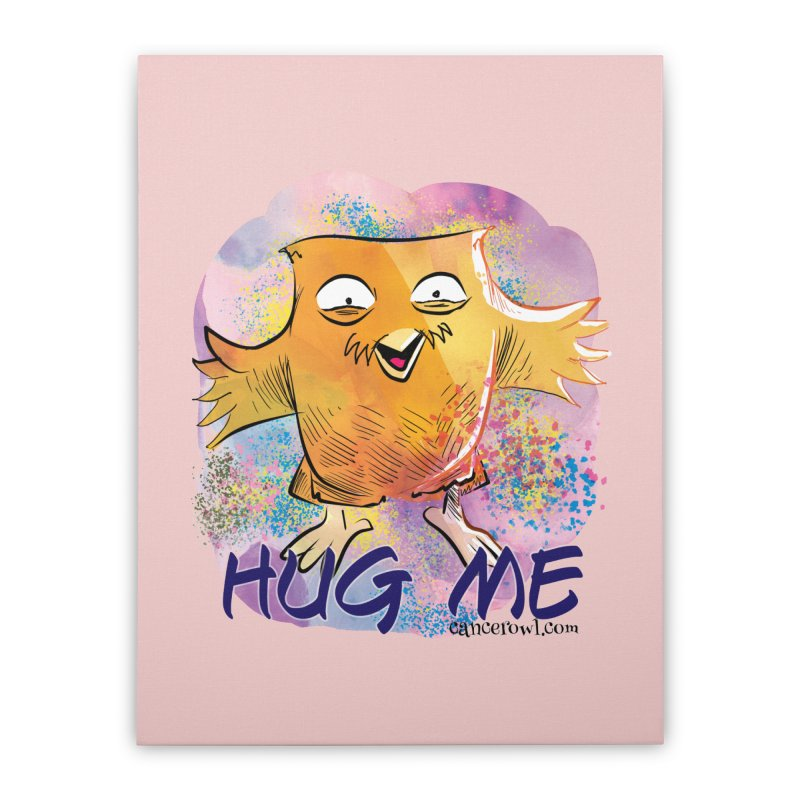 Hug Me!! Pink background Home Stretched Canvas by Cancer Owl Store