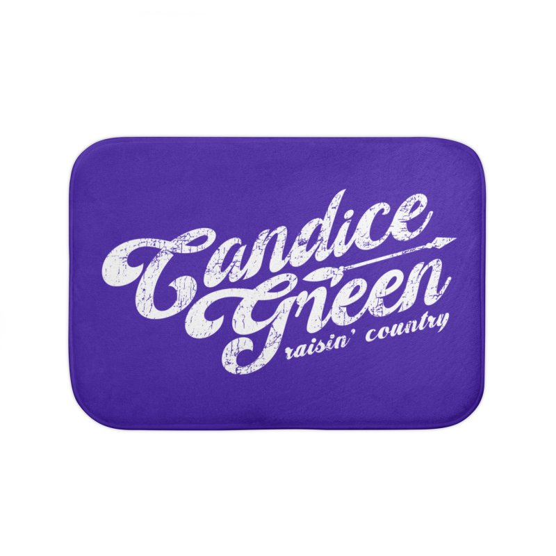 Candice Green - Raisin' Country - for darks Home Bath Mat by candicegreenmusic's Artist Shop