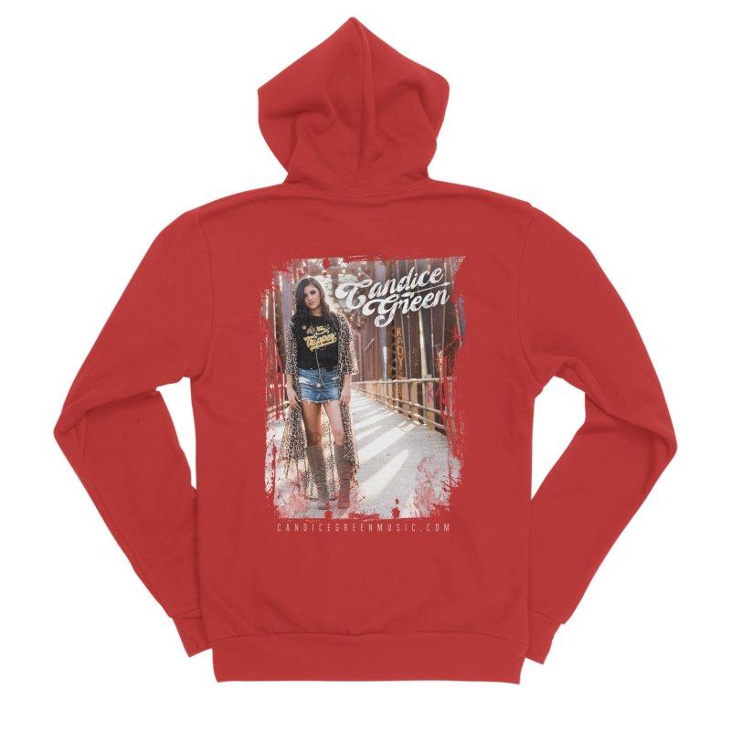 Candice Green Pretty Heart Design Men's Zip-Up Hoody by candicegreenmusic's Artist Shop