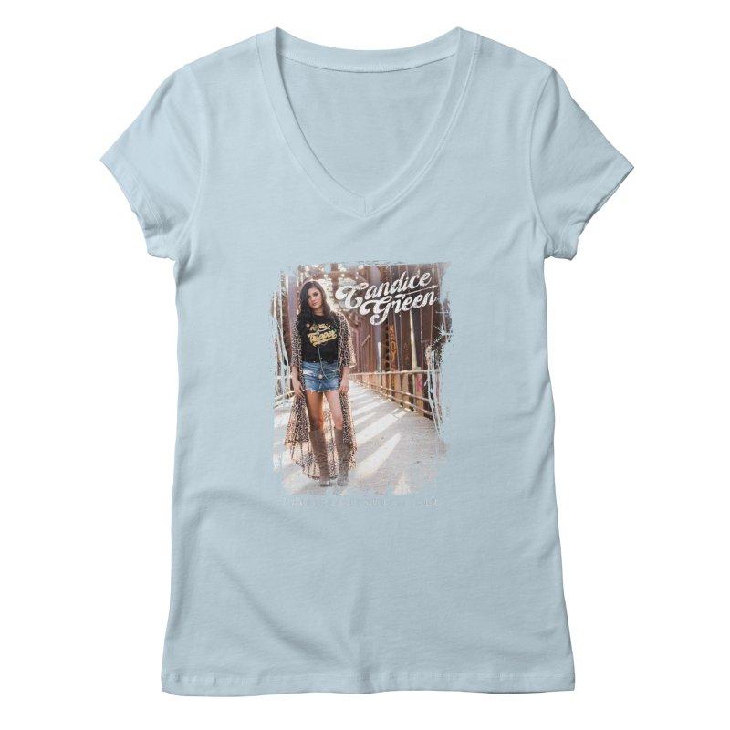 Candice Green Pretty Heart Design Women's V-Neck by candicegreenmusic's Artist Shop