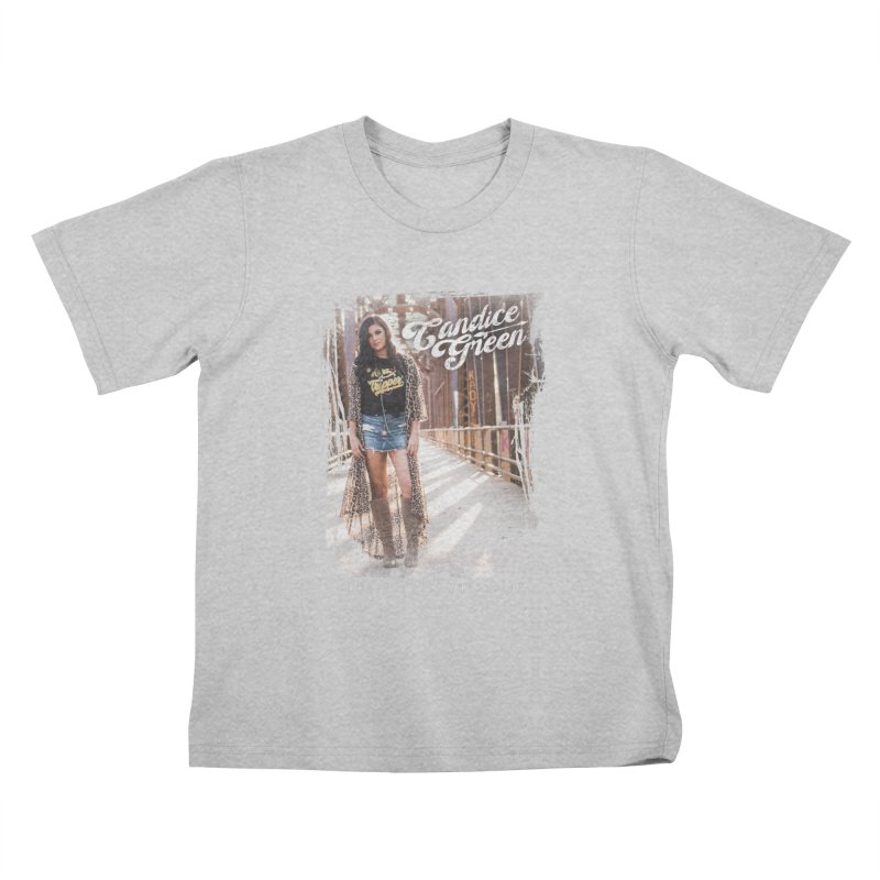 Candice Green Pretty Heart Design Kids T-Shirt by candicegreenmusic's Artist Shop