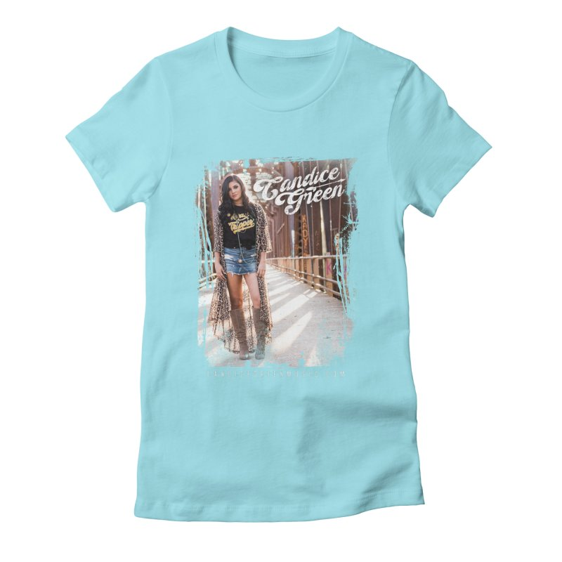 Candice Green Pretty Heart Design Women's T-Shirt by candicegreenmusic's Artist Shop