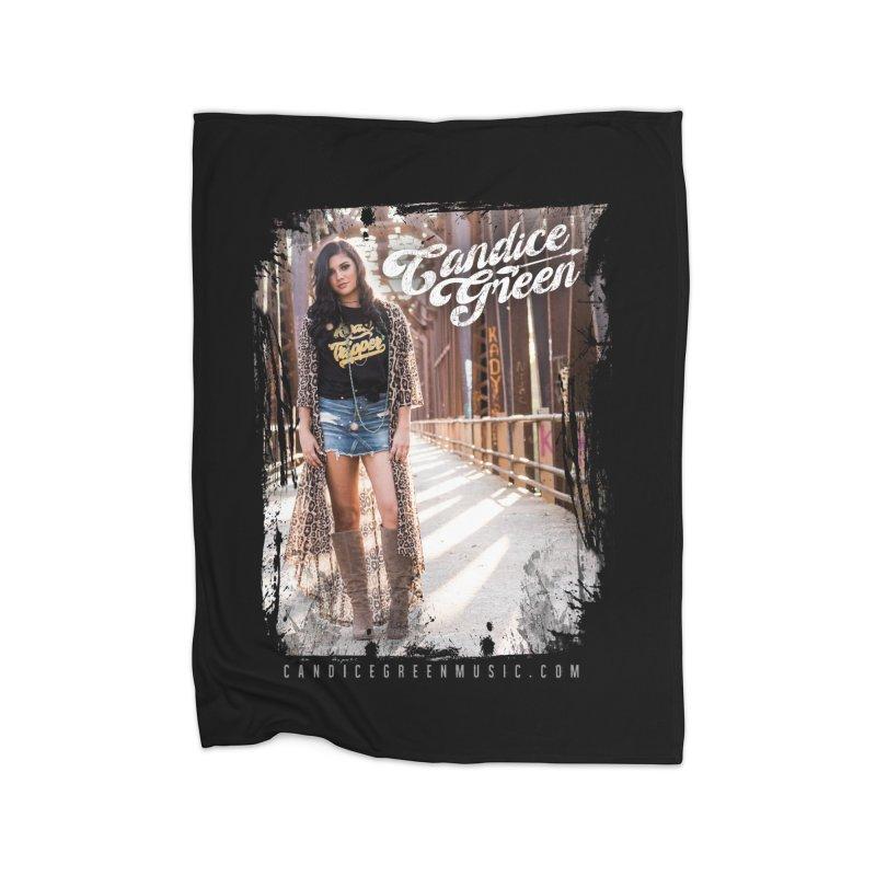 Candice Green Pretty Heart Design Home Blanket by candicegreenmusic's Artist Shop