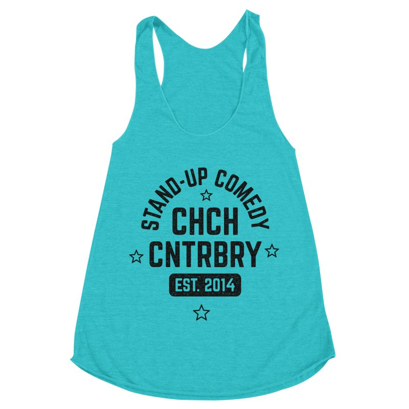 CHCH CNTRBRY Black Women's Racerback Triblend Tank by Can Do Comedy Official Merchandise Store