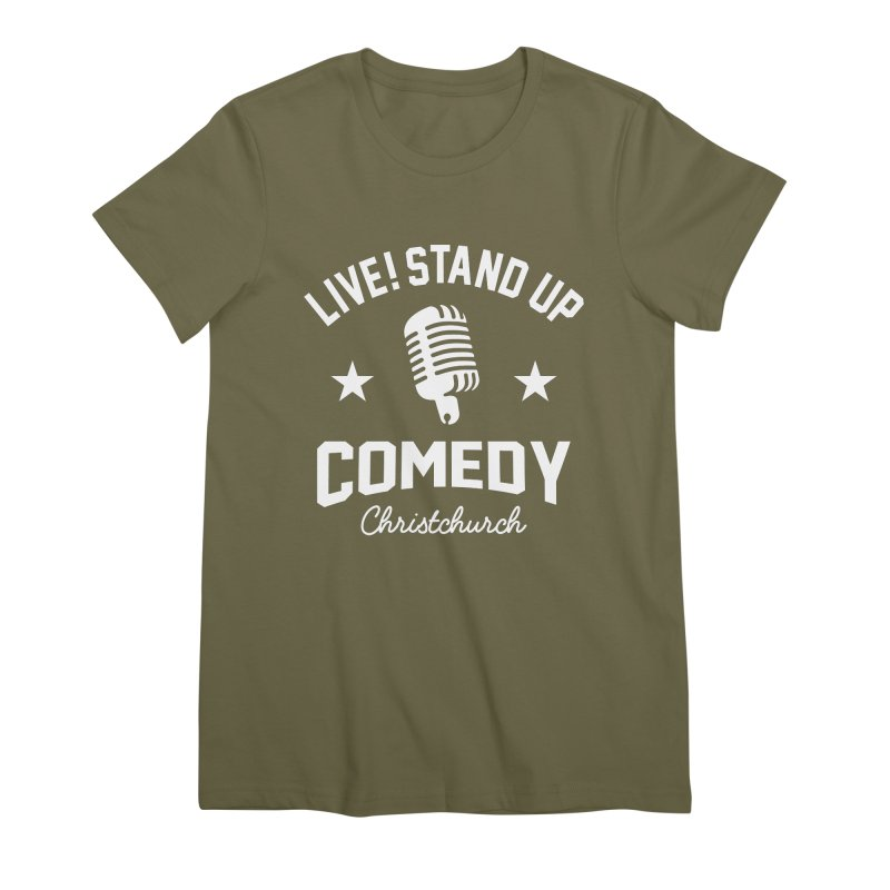 Live! Stand Up Chch White Women's Premium T-Shirt by Can Do Comedy Official Merchandise Store