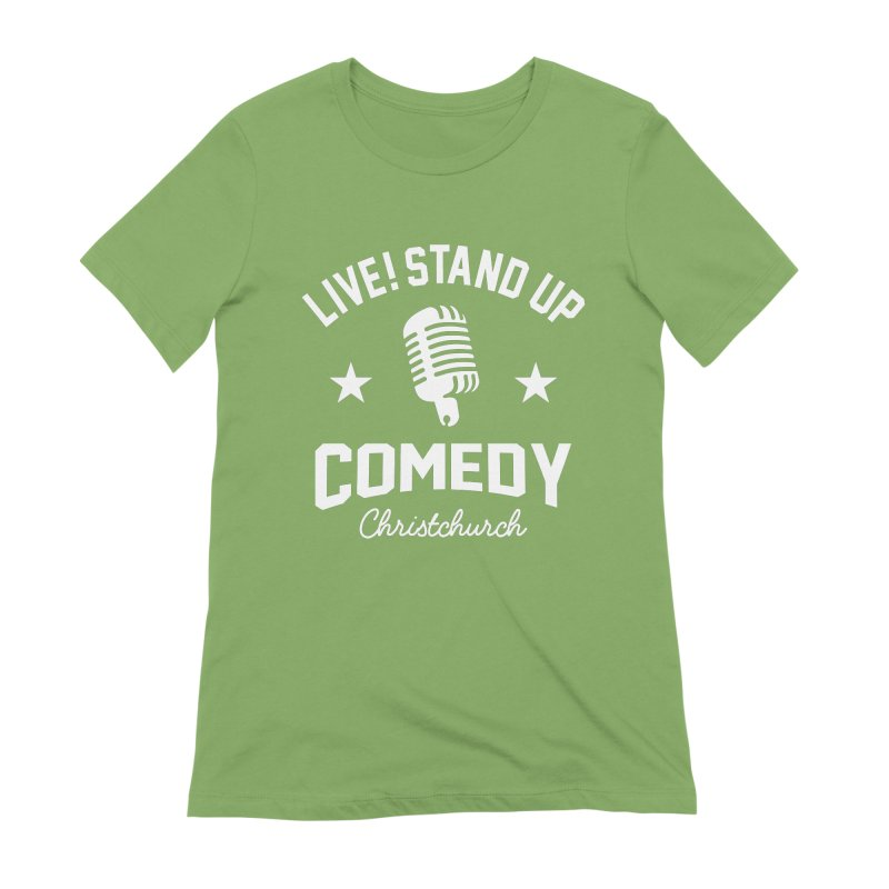 Live! Stand Up Chch White Women's Extra Soft T-Shirt by Can Do Comedy Official Merchandise Store