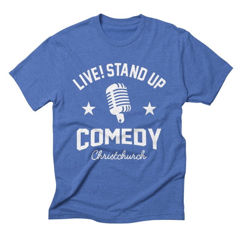 Live! Stand Up Chch White Men's T-Shirt by Can Do Comedy Official Merchandise Store
