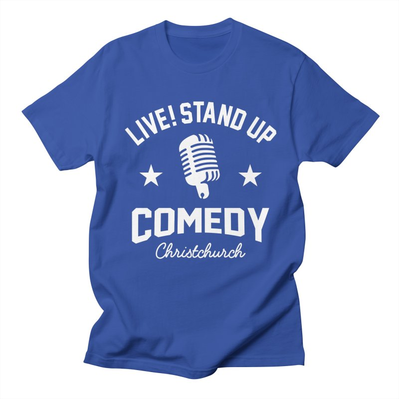 Live! Stand Up Chch White Women's Regular Unisex T-Shirt by Can Do Comedy Official Merchandise Store