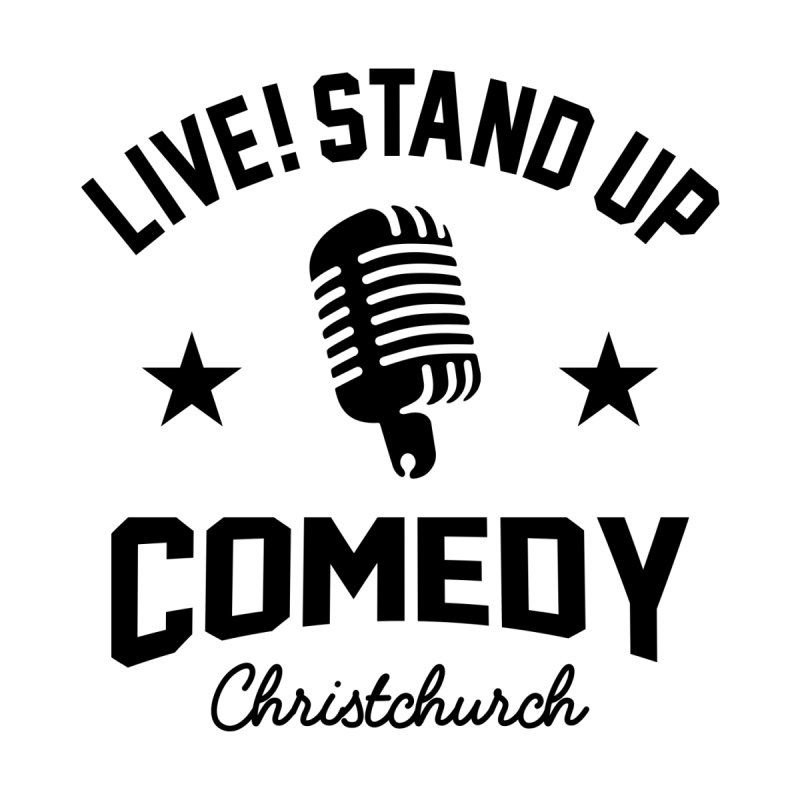 Live! Stand Up Chch Black Men's T-Shirt by Can Do Comedy Official Merchandise Store