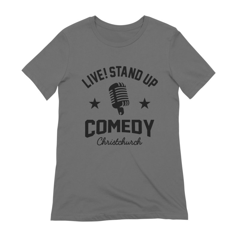 Live! Stand Up Chch Black Women's Extra Soft T-Shirt by Can Do Comedy Official Merchandise Store
