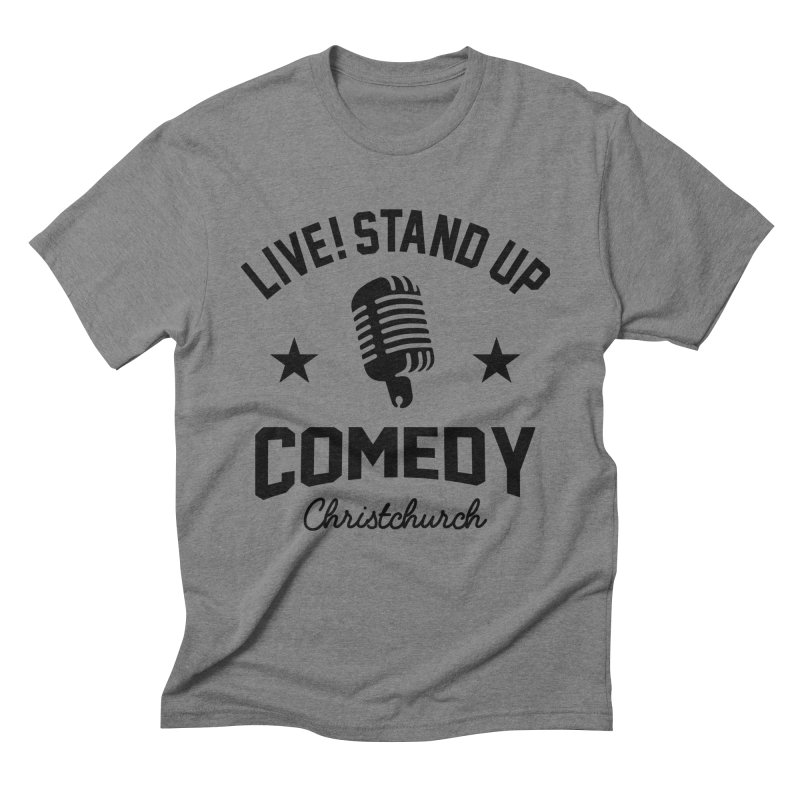 Live! Stand Up Chch Black in Men's Triblend T-Shirt Grey Triblend by Can Do Comedy Official Merchandise Store